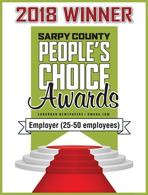 2018 Sarpy County People's Choice Awards - Employer Winner