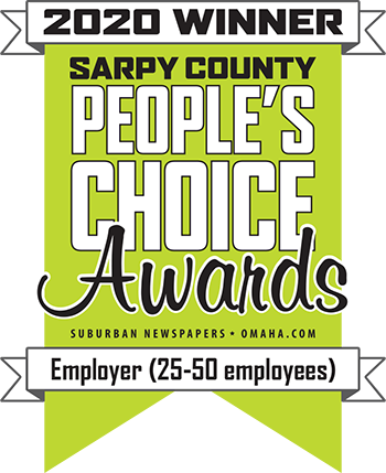 Sarpy County 2020 People's Choice Awards Employer (25-50 employees) Winner